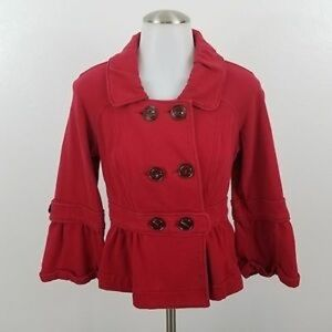 Red sweater jacket